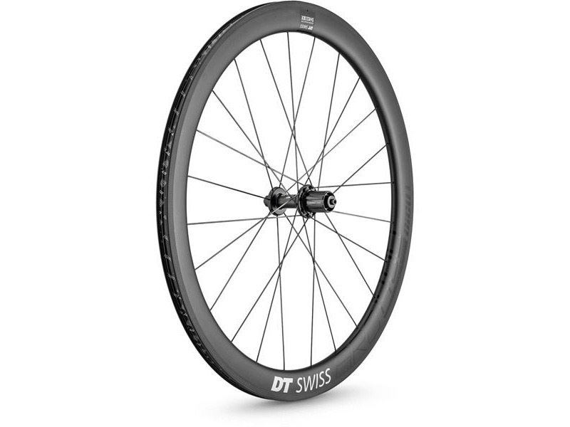 DT Swiss ARC 1400 DICUT wheel, carbon clincher 48 x 17 mm rim, rear click to zoom image