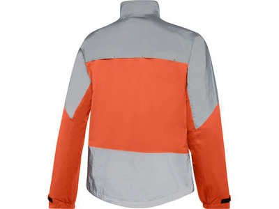 Madison Stellar Reflective men's waterproof jacket, chilli red / silver click to zoom image
