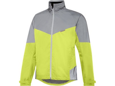 Madison Stellar Reflective men's waterproof jacket, hi-viz yellow / silver