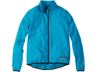 Madison Flux super light men's packable shell jacket, hawaiian blue