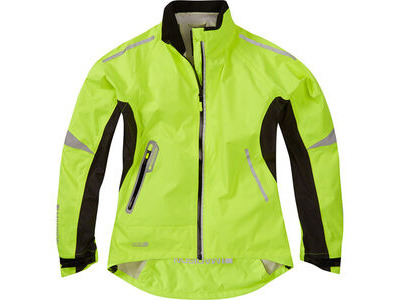 Madison Stellar women's waterproof jacket, hi-viz yellow
