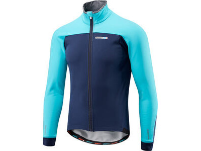 Madison RoadRace Apex men's softshell jacket, ink blue / blue curaco