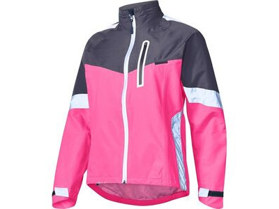 Madison Protec women's waterproof jacket, pink glo/dark shadow