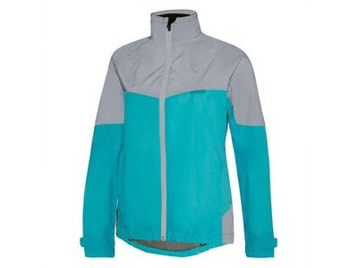 Madison Stellar Reflective women's waterproof jacket, aqua blue/silver