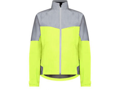 Madison Stellar Reflective women's waterproof jacket, hi-viz yellow / silver