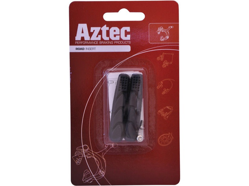 Aztec Road insert brake blocks standard Charcoal click to zoom image