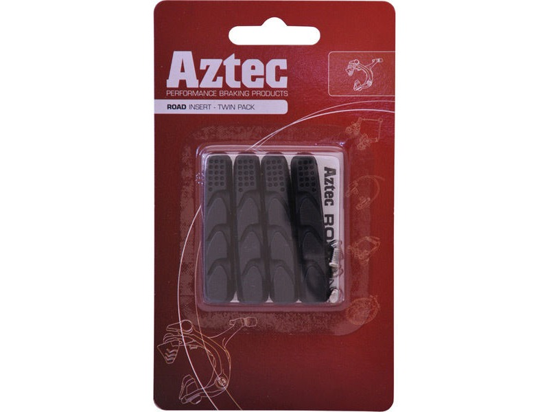 Aztec Road insert brake blocks - pack of 2 pairs Charcoal click to zoom image